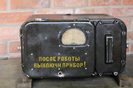 KIEV, UKRAINE -NOV 3  Vintage Soviet Geiger counter during historical military reenactment, festival  and exhibition, November 3, 2013 Kiev, Ukraine  Stock Photo - 25055727