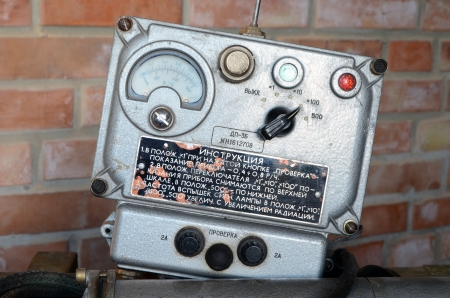 KIEV, UKRAINE -NOV 3  Vintage Soviet Geiger counter during historical military reenactment, festival  and exhibition, November 3, 2013 Kiev, Ukraine  Stock Photo - 25055730