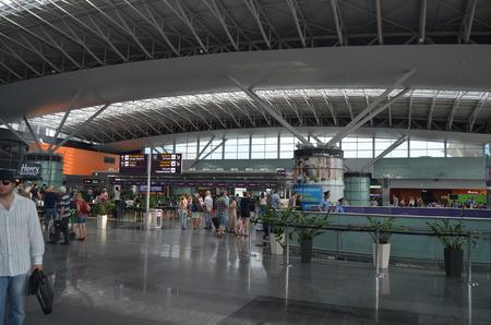 KIEV, UKRAINE -JUN 7, 2014  Borispol  Main airport of Kiev Terminal D,builded at 2013 June 7, 2014 Kiev, Ukraine