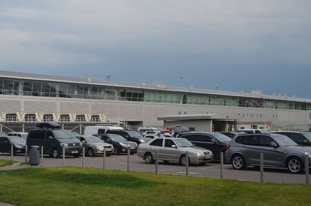 KIEV, UKRAINE -JUN 7, 2014  Borispol  Main airport of Kiev Terminal D,builded at 2013 June 7, 2014 Kiev, Ukraine