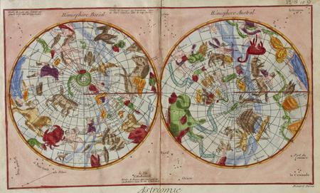 astrologer: Vintage astronomical chart