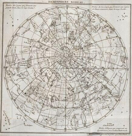 Ancienne carte du ciel Banque d'images - 31511908