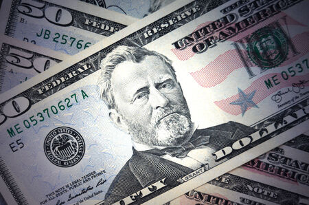 50 dollar bill: Fifty dollars background Stock Photo