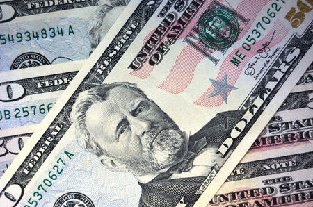 ulysses s  grant: Fifty dollars background Stock Photo