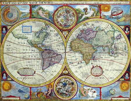 Antique Map Editorial