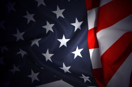 banderas americanas: Bandera de los E.E.U.U. Foto de archivo