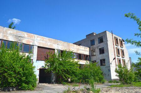 chernobyl: KIEV UKRAINE  MAY 2 2015: Abandoned industrial complex..May 2 2015 Kiev Ukraine Editorial