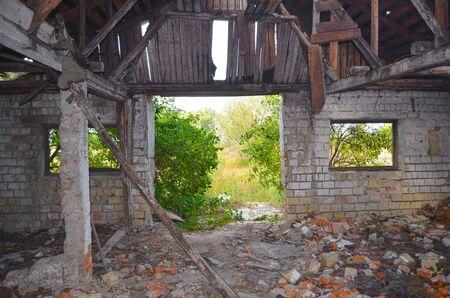 chernobyl: Abandoned milk farm .Kiev region, Ukraine Stock Photo