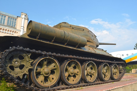 t34: KIEV, UKRAINE - SEP 2, 2015: Soviet tank T-34 near Technical History Museum of National Polytechnic University on September 2, 2015 in Kiev, Ukraine Editorial