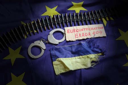 genocide: Eurointegration.Error 404.EU and Ukraine Flag