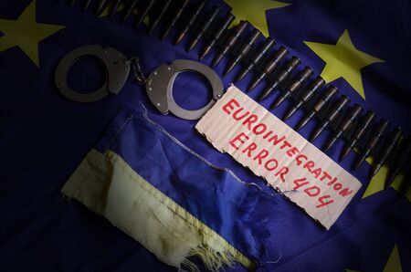 ukraine flag: Eurointegration.Error 404.EU and Ukraine Flag
