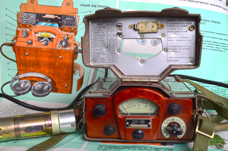 cold war: Vintage Soviet military radiometer DP-5b.Relic of Cold War