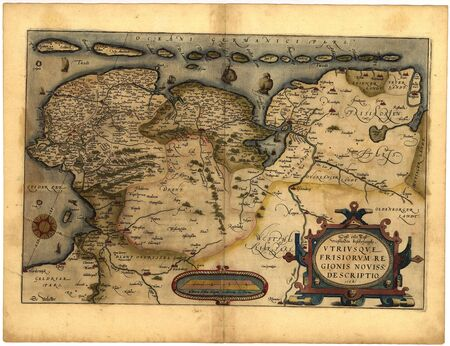 old fashioned sepia: vintage map