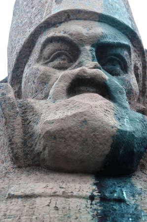 vandalism: Ukrainian vandalism. (Ukrainian nazionalists have tradition to vandalise monuments)
