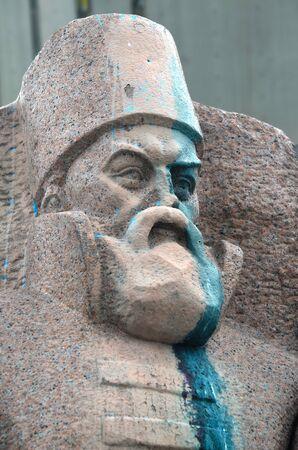european integration: Ukrainian vandalism. (Ukrainian nazionalists have tradition to vandalise monuments)