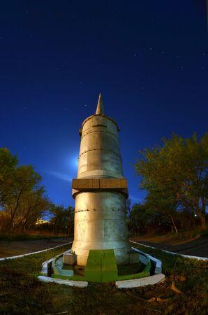 Museum of the former Soviet anti-ballistic missile testing range Sary Shagan.May 10, 2017.Priozersk.Kazakhstan