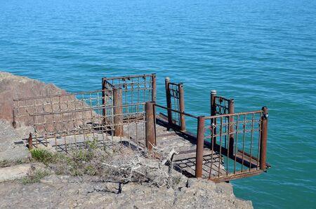 lia: Balkhash lake, central Kazakhstan.Near Priozersk - former Soviet anti-ballistic missile testing range Sary Shagan