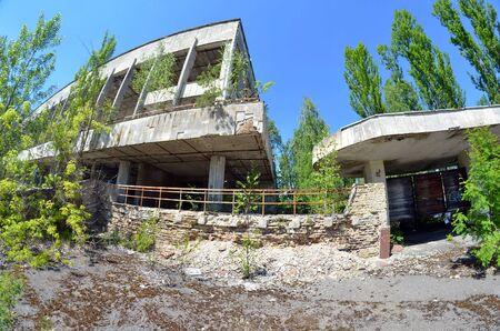 Lost city Pripyat.Chernobyl Exclusion Zone.May 19, 2017.Kiev region.Ukraine