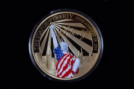 American commemorative coin.Special edition..Kiev, Ukraine July 9, 2017 Editorial