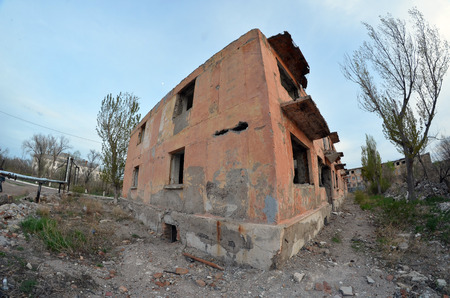 Urbaner Zerfall.Kasachstan.May 8, 2017.Sary Shagan.Kasachstan