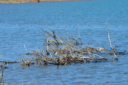Balkhash lake, central Kazakhstan. Near Priozersk - former Soviet anti-ballistic missile testing range Sary Shagan