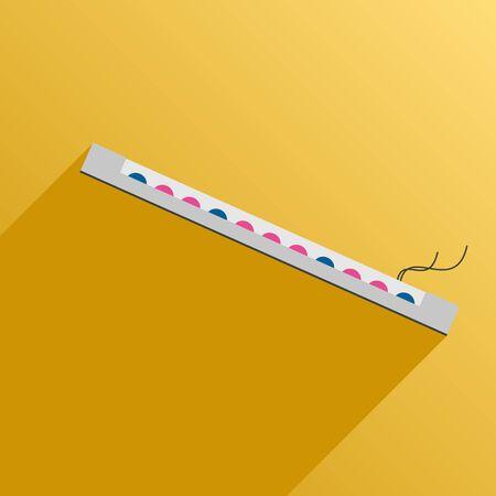 rayos uv: Vector illustration. Flat style. Icon. UV lamp for phytolight for plants