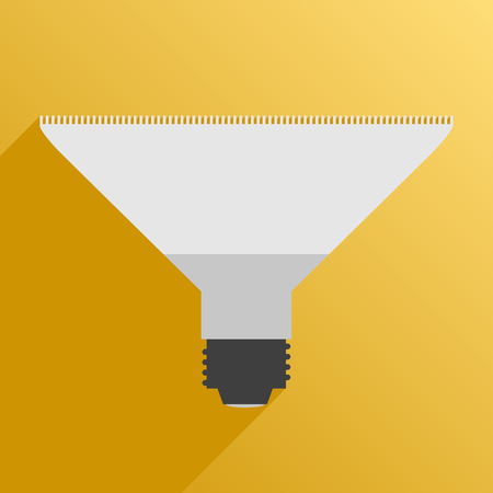usual: Vector illustration. Flat style. Icon. Usual lamps for phytolight for plants