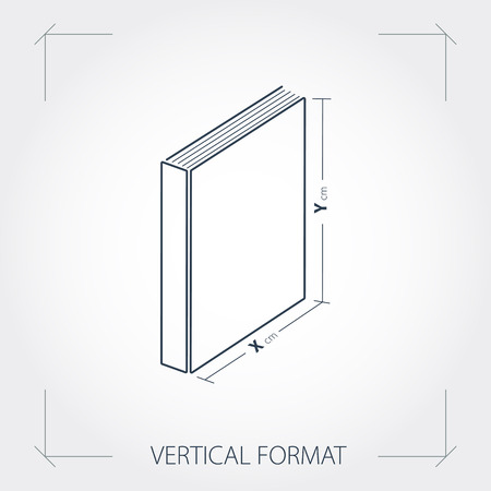 printing house: Vector illustration. Icon of vertical format photobook Illustration