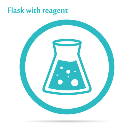 reagent: Medicine icon cell - flask with reagent