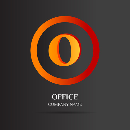 o': O Letter logo Abstract design for Corporate Business Identity on black background with simple text