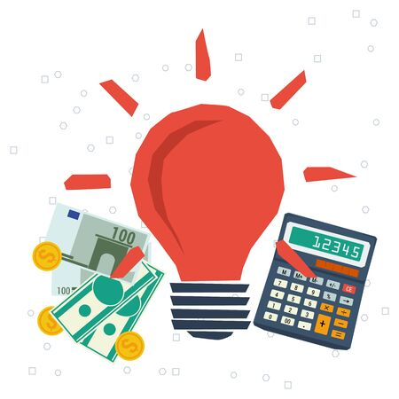 monetization: Vector concept monetization ideas. Startup. Budget for family. Business idea and planning. Flat style. Infographics