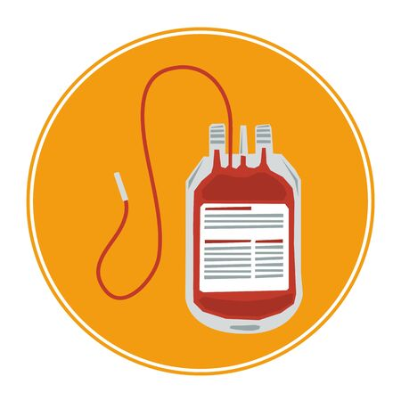 adenine: Vector Blood Bag Icon isolated on white. Blood transfusion icon.