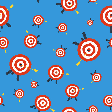 seamless technical pattern with target circle on blue background