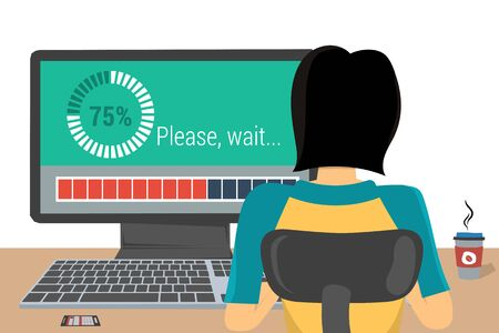 Woman on the workplace - update Illustration