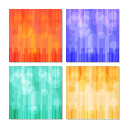 flat: Vector abstract flat colored shape square backgrounds