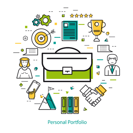 Line Art Concept - Personal Portfolio