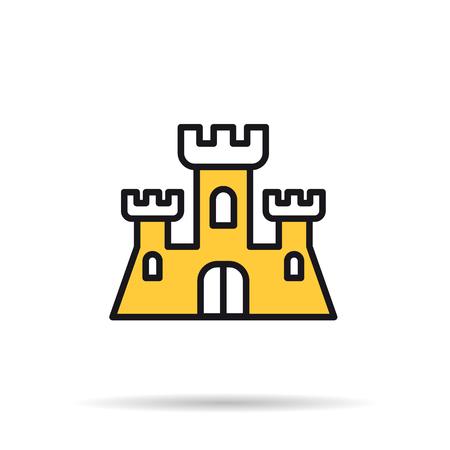 Line icon - sand castle Illustration