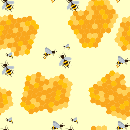 A Seamless Pattern With Bee And Honey Royalty Free Cliparts Vectors Mesmerizing Bee Pattern