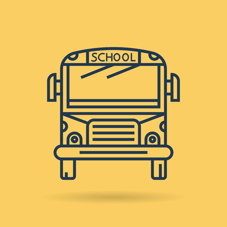 Bus front view illustration.
