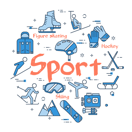 Blue SPORT concept Illustration