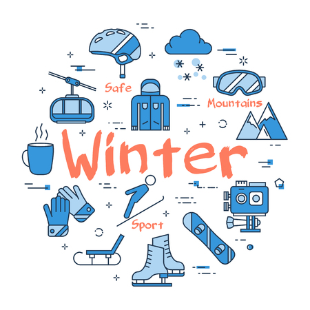 Blue WINTER concept Illustration