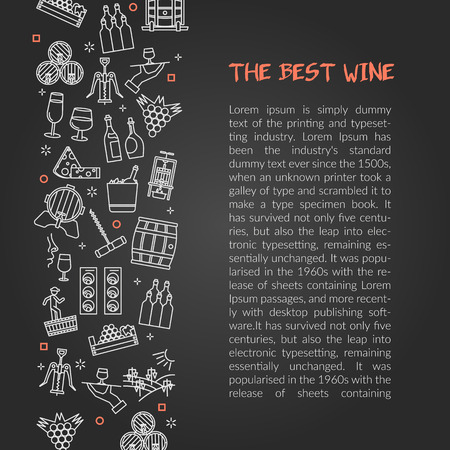 Simple elegant design of webpage showing article about winery and wine grades on gray background