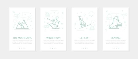 Vector four winter sport vertical mobile banners-02 Illustration