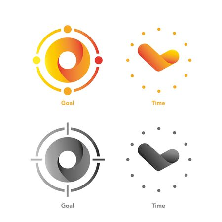 Vector or Icon of Goal and Time