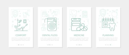 Vector four vertical mobile banners for dentistry medicine-01