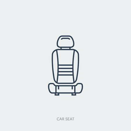 Vector outline icon of car part - single seat Ilustracja