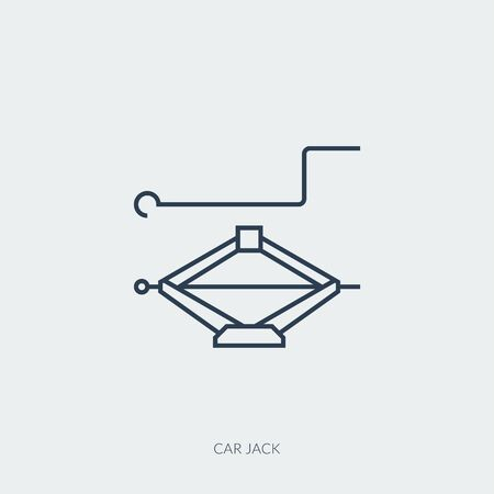 Vector outline icon of car part - car jack Ilustracja