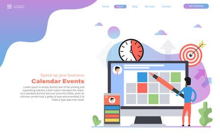 Vector web header template of planning calendar events 向量圖像