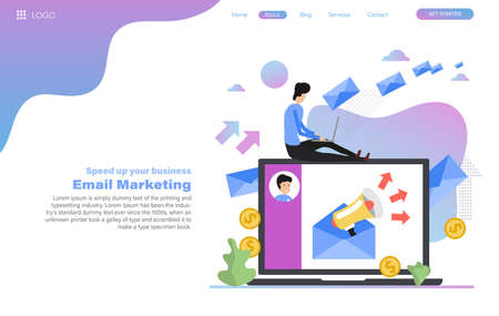 Vector web header template of email marketing 向量圖像