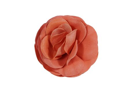 glycerin soap: Artificial rose SOAP flower on a white background.